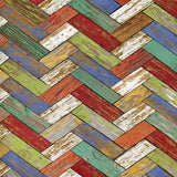 Colorful Chevron Wood Backdrop - 2307 - Backdrop Outlet