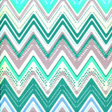 Printed Teal Jewel Chevron Backdrop - 2337 - Backdrop Outlet