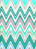 2337 Printed Teal Jewel Chevron Backdrop - Backdrop Outlet