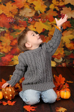 Autumn Leafs Backdrop - 239 - Backdrop Outlet