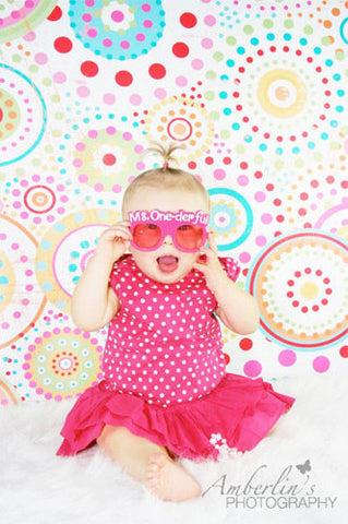 450 Color Fun Pattern Backdrop - Backdrop Outlet - 1