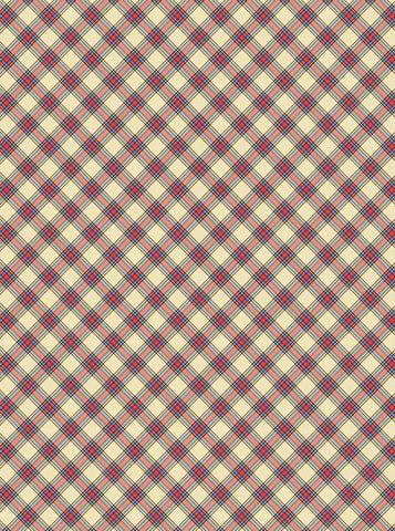 4635 Plaid Red Geen Yellow Pattern Backdrop - Backdrop Outlet