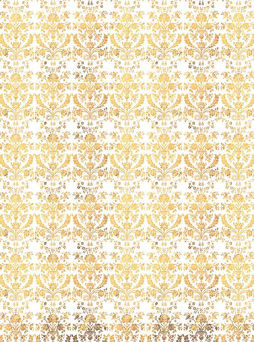 4637 Victorian Pattern Yellow Printed Photo Backdrop - Backdrop Outlet
