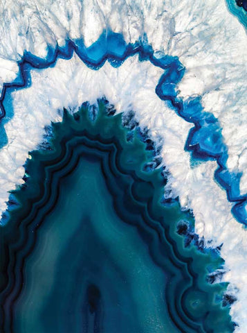 4640 Printed Sea Blue Geode Backdrop - Backdrop Outlet