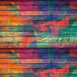 Printed Wood Rainbow Backdrop - 497 - Backdrop Outlet