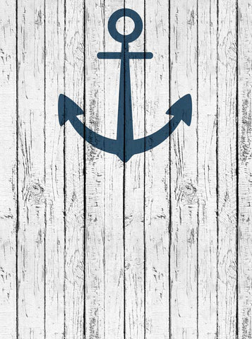 Anchor's Away Scratched White Wood Backdrop - 6138 - Backdrop Outlet