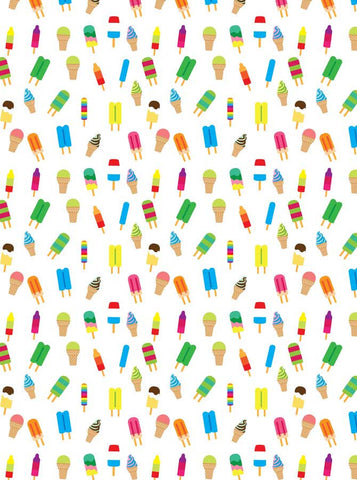 Printed Watercolor Popsicle Ice cream Backdrop - 6144 - Backdrop Outlet