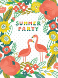Summer Flamingo Party Floral Backdrop - 6149 - Backdrop Outlet