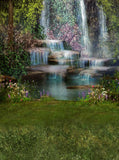 6150 Tropical Mystical Waterfall Printed Backdrop - Backdrop Outlet