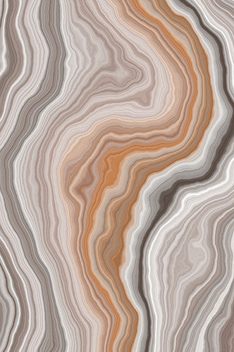 Brown Peach And White Marble Printed Background - 6219 - Backdrop Outlet