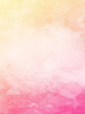 6335 Yellow Pink Watercolor Backdrop - Backdrop Outlet