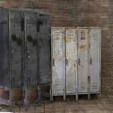 Abandoned School Lockers Rusty Black Gray Printed Backdrop - 6353 - Backdrop Outlet