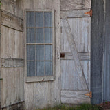 Blue Gray Wooden Door Barn Metal Printed Photography Backdrop - 6355 - Backdrop Outlet