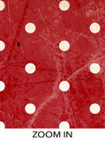 Red Christmas Scratched Textured Cement Polka Dots Printed Backdrop - 6365