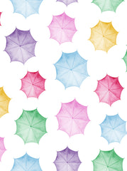 Printed Colorful Umbrellas Backdrop - 6386 - Backdrop Outlet