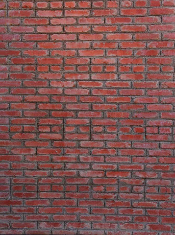 Red Brick Wall Backdrop - 6706 - Backdrop Outlet
