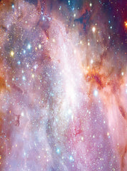 Printed Galactic Pink Star Galaxy Space Backdrop - 6851 - Backdrop Outlet