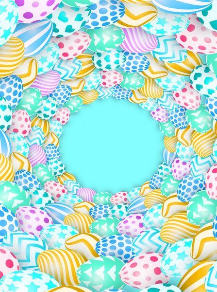 All Around Easter Eggs Backdrop - 6853 - Backdrop Outlet