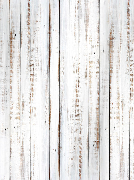 White Washed Out Rustic Wood Printed Backdrop 6854