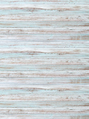 White Baby Blue Washed Out Wood Printed Backdrop - 6855 - Backdrop Outlet
