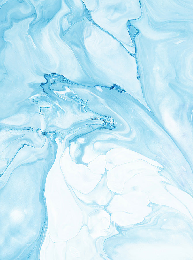 Water Color Oceanic Baby Blue Marble Backdrop 6856