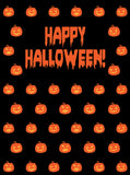 Printed Halloween Pumpkin Theme Pattern Backdrop - 6874 - Backdrop Outlet