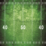 Printed Green Football Field Backdrop - 6878