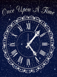 Once Upon A Time Magical Clock In Night Sky Backdrop - 6881