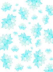 Turquoise Indie Leaves Pattern Backdrop - 6883