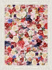 Colorful Vibrant Framed Rose Floral Backdrop - 6884