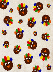 Thanksgiving Hand Turkey On Construction Paper Kids Backdrop - 6889