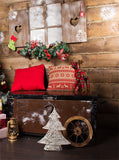 Printed Christmas Spirit Holiday Cabin Backdrop - 6894