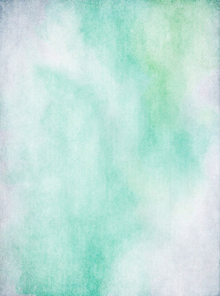 Printed Teal Watercolor Clouds Textured Backdrop - 6927