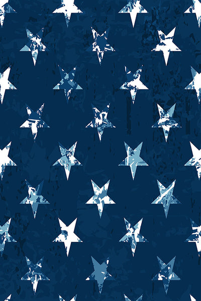 Printed Patriotic Navy Background and Stars Backdrop - 6938