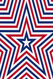 Printed Patriotic Red Blue and White Star Background - 6932