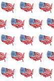 Printed Patriotic Grunge US Flag Pattern Backdrop - 6940