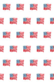 Printed Patriotic Grunge US Flag Stamp Pattern Backdrop - 6941