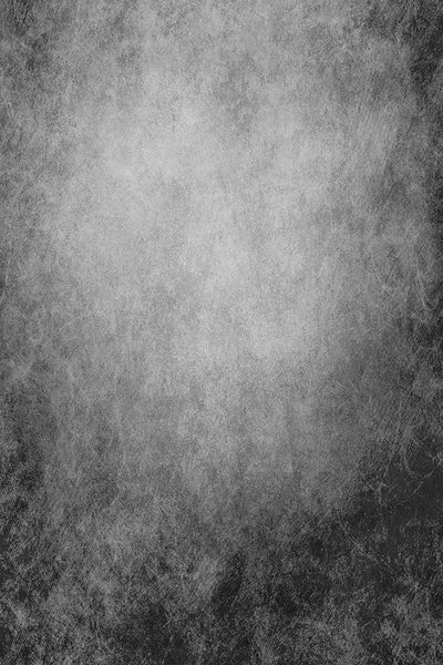 Printed Textured Grunge Distressed Wall Black and Gray Backdrop - 6954