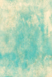 Printed Textured Scratch Overlay Aqua and Ivory Yellow Grunge Backdrop - 6960