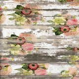 Printed Vintage Watercolor Flower Wood Photo Backdrop - 7196 - Backdrop Outlet