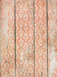 7197 Coral Vintage Wallpaper Backdrop - Backdrop Outlet - 2