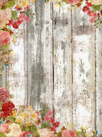 White Wash Flower Backdrop - 7199 - Backdrop Outlet
