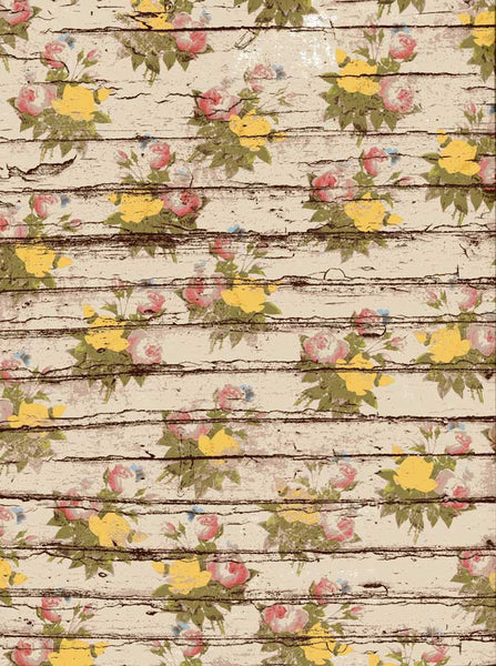 Blooming Flowers Wood Backdrop - 7214 - Backdrop Outlet