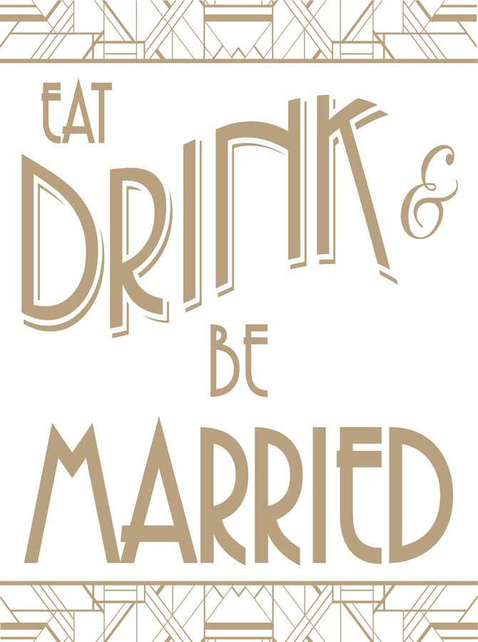 Printed Eat Drink And Be Married Deco Backdrop Wedding Banner Backgrou Backdrop Outlet