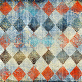 Colorful Diamond Checkers Backdrop - 7823 - Backdrop Outlet