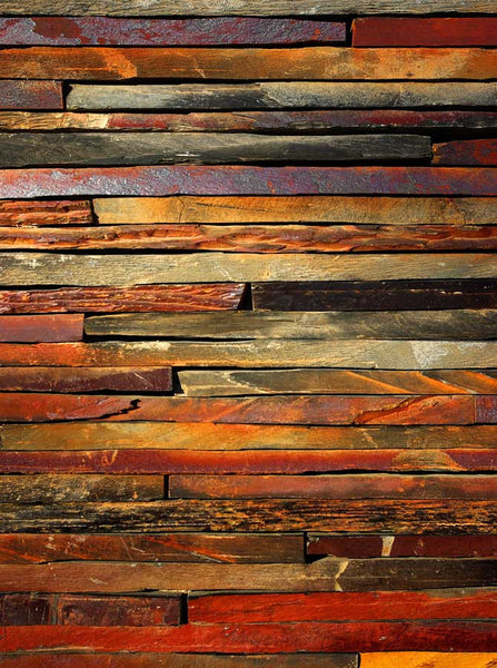 Rust Brown Wood Backdrop - 7958 - Backdrop Outlet
