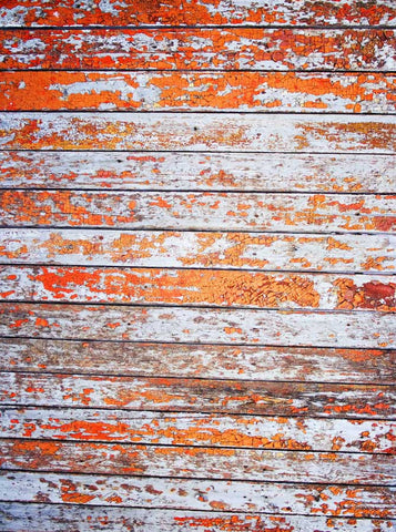 Orange Wood Photo Backdrop - 804 - Backdrop Outlet