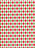 Green Red Diamond Christmas Patterned Photography Backdrop - 8152 - Backdrop Outlet