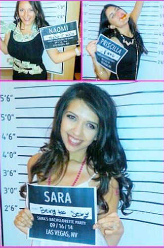 9582 Mug Shot Bachelorette Backdrop - Backdrop Outlet - 1