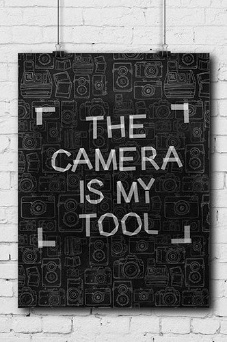 Photography Poster The Camera Tool - POSTER004 - Backdrop Outlet